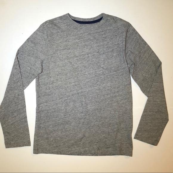 98bec1b31d6020 Lands' End Shirts & Tops   Lands End Gray Slub Knit Cotton Tee Shirt ...